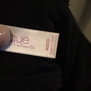 Cacique Intimates & Sleepwear - Cacique Lane Bryant Black Crystal Plunge bra 40DD